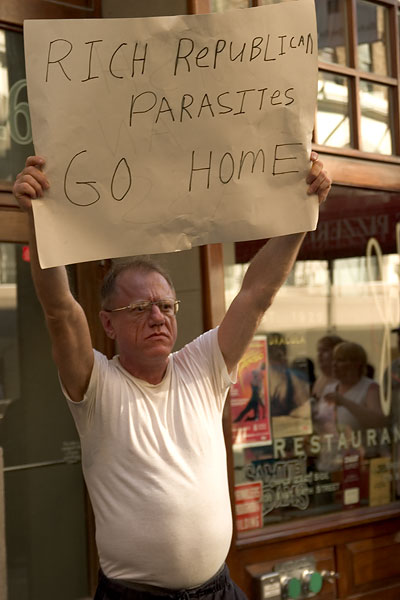 rich republican parasites go home